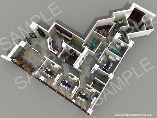 Interactive 3D Floor Plans Design
